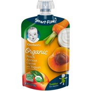 Gerber Organic Toddler Food, Peach Apricot Carrot with Yogurt, 3.5 oz Pouch
