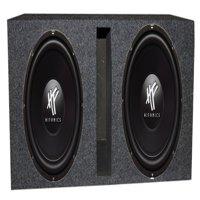 "2) HIFONICS HFX12D4  12"" 1600W Car Audio DVC Subwoofers Subwoofers + Ported Box"