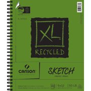 """Canson XL Recycled Paper 9"""" x 12"""" Spiral Sketch Pad, 1 Each"""