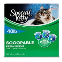 Special Kitty Scoopable Tight Clumping Cat Litter, Fresh Scent, 40 lb