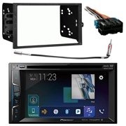 radio wiring harness, antenna adapter  product image  pioneer  multimedia double din bluetooth receiver w/ 6 2