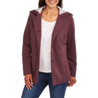 Climate Concepts Womens Soft & Cozy Fleece Jacket (Charcoal or Eggplant)