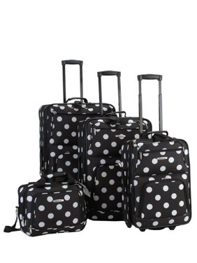 Rockland Luggage Galleria 4 Piece Softside Expandable Luggage Set F46
