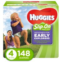 HUGGIES Little Movers Slip-On Diaper Pants (Choose Size and Count)
