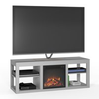 "Ameriwood Home Parsons Electric Fireplace TV Stand for TVs up to 65"" Dove Gray"