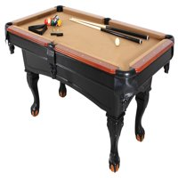 Minnesota Fats 8' Covington Billiard Table with Carved Solid-Wood Legs and Antiqued Wood Finish