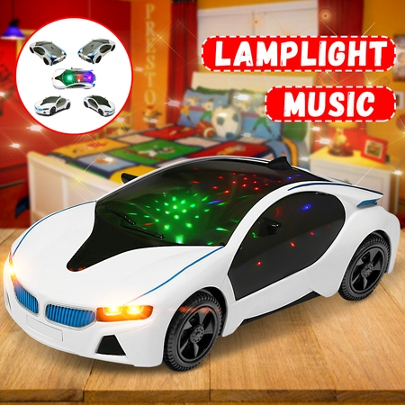 LED Light Car Toys Electronics Flashing Lights Music Sound Car Play Vehicles Toys For Toddler Boys, Kids Gift - 3 to 12 Years (Size:7.87x3.54x1.97 inch)