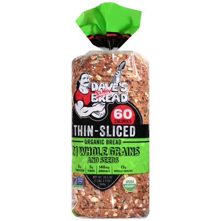 Dave's Killer Bread® Thin Sliced 21 Whole Grains and Seeds Organic Bread 20.5 oz.
