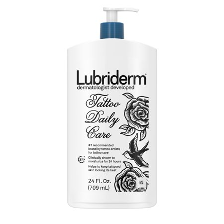 Lubriderm Tattoo Daily Care Lotion Water Based Unscented 24 Fl