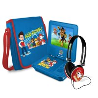 "Paw patrol 7"" portable dvd player with carrying bag and headphones, blue"
