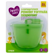 Parent's Choice 3 Compartment Powder Formula Dispenser, 0+ Months