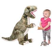 "Prextex 24"" Giant Plush Dinosaur T-Rex Jumbo Cuddly Soft Dinosaur Toys for  Kids b20b705191"