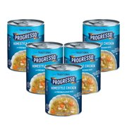 (5 Pack) Progresso Soup, Traditional, Homestyle Chicken Soup, 19 oz Can