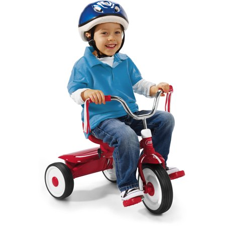 Infant Tricycle - Radio Flyer, Ready to Ride Folding Trike, Fully Assembled, Red