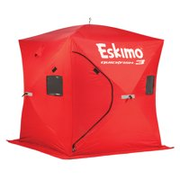 Eskimo QuickFish 3 Portable 3-Person Pop Up Ice Fishing Shanty Shack Shelter Hut