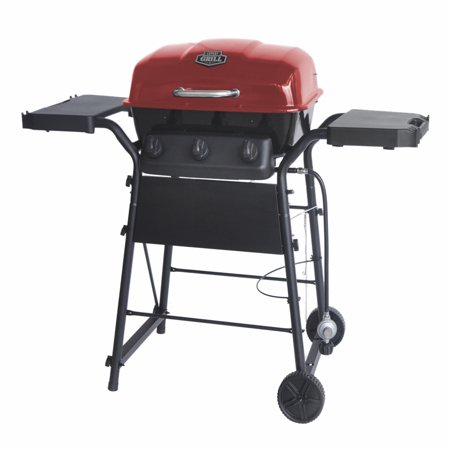 - Expert Grill 3 Burner 30,000 BTU Gas Grill with Side Shelves, Red
