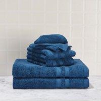 Mainstays Solid Performance Cotton Towel Set - 6 Piece Set