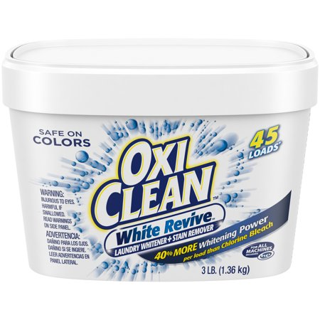OxiClean White Revive Laundry Whitener + Stain Remover, 3