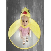 04d8dc1cfa38c Cute Rain Coat UFO Children Umbrella Hat Magical Hands Free Raincoat