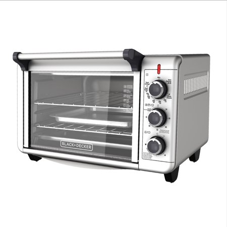 Convection Double Range (BLACK+DECKER Convection Countertop Oven, Stainless Steel, TO3000G )