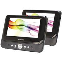 "Sylvania 7"" LCD Dual-Screen Portable / Car DVD Media Player - Manufacturer Refurbished"