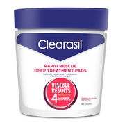 Clearasil Rapid Rescue Deep Acne Treatment Cleansing Wipes, 90ct