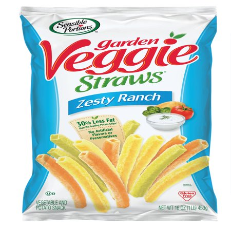 Sensible Portions Garden Veggie Straws Zesty Ranch Vegetable And Potato Snacks 16 Oz