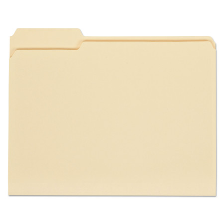 Cut File Folder Letter - Universal File Folders, 1/3 Cut Assorted, One-Ply Top Tab, Letter, Manila, 100/Box -UNV12113