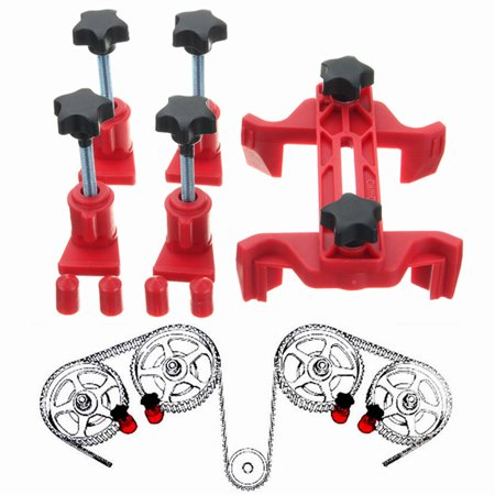 Engine Moving Tool (5Pcs Universal DIY Automobiles Dual Cam Clamp Camshaft Engine Timing Locking)