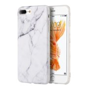 iPhone 8 Plus Case, iPhone 7 Plus Case, by Insten Marble Rubber TPU Case