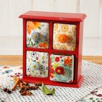 The Pioneer Woman Flea Market 4-Drawer Distress Spice Box