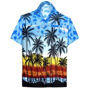 cf29509c9 Hawaiian Shirt Mens Beach Aloha Camp Party Holiday Short Sleeve Button Up  Down Palm Tree Print