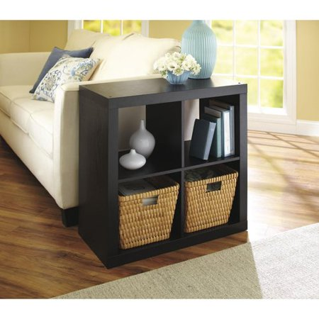Better Homes and Gardens Square 4 Cube Storage Organizer, Multiple Colors - Office Cube Decoration