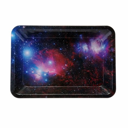 Cool Mini Cigarette Rolling Tray Metal Prime Smoking Holder Trays Starry Sky 7X 4.9 inch