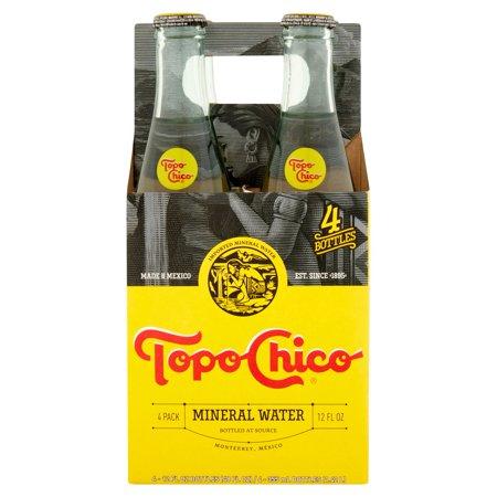 Topo Chico Mineral Water, 12 Fl Oz, 4 Count