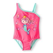 705dd4182a Mermaid Asymetrical Strap One Piece Swimsuit (Baby Girls)