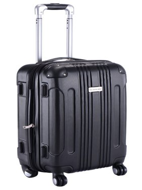 Product Image GLOBALWAY Expandable 20   ABS Luggage Carry on Travel Bag  Trolley Suitcase Black 7ef04bf4e6