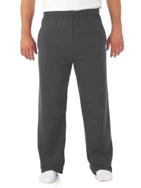 Men's Soft Medium-Weight Fleece Open Bottom Sweatpants, with pockets