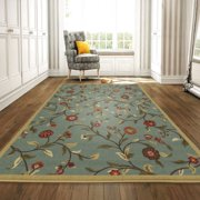 Ottomanson Ottohome Floral Garden Design Non Slip Rubber Backing Modern Area or Runner Rug
