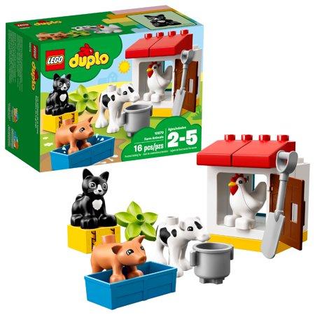 Lego Duplo Farm Set (LEGO DUPLO Town Farm Animals 10870 Preschool Building Set)