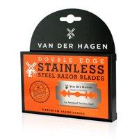 Van Der Hagen Ice Tempered Stainless Steel Blades, 5 count