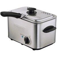 Farberware 1.1L Stainless Steel Deep Fryer with Dishwasher-Safe Basket, Lid & Handle