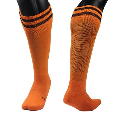 Lian Style Women's 1 Pair Knee Length Sports Socks for Baseball/Soccer/Lacrosse XL003 M(Orange)