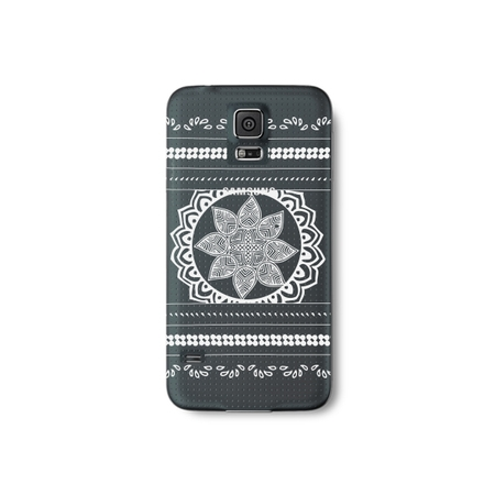Tribal India Henna Tattoo Style Phone Case for the Samsung Note 4 - Floral Pattern (Samsung Note 4 White Price In India)
