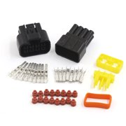 1 kit 8 pin way waterproof 2 3mm wire connector socket car sealed electrical  set