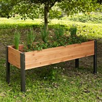 Coral Coast Bloomfield Wood Raised Garden Bed - 70L x 24D x 29H in.