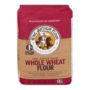 (2 Pack) King Arthur Flour 100% Premium Whole Wheat Flour 5 lb. Bag