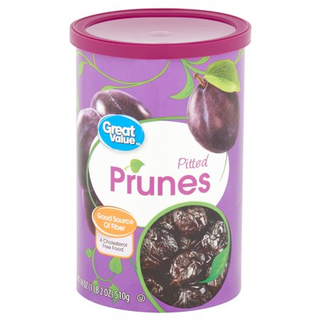 Great Value Pitted Dried Prunes, 18 Oz. (Chocolate Dried Fruit)