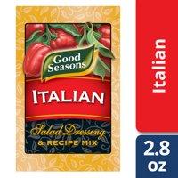 (2 Pack) Good Seasons Italian All Natural Salad Dressing & Recipe Mix, 4 - 0.7 Oz Boxes