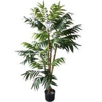 5 Foot Artificial Palm Tree – Large Faux Potted Tropical Plant for Indoor or Outdoor Decoration at Home, Office, or Restaurant by Pure Garden